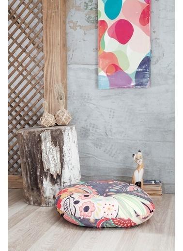 home-bath Dekoratif Yer Minderi Renesme Renkli